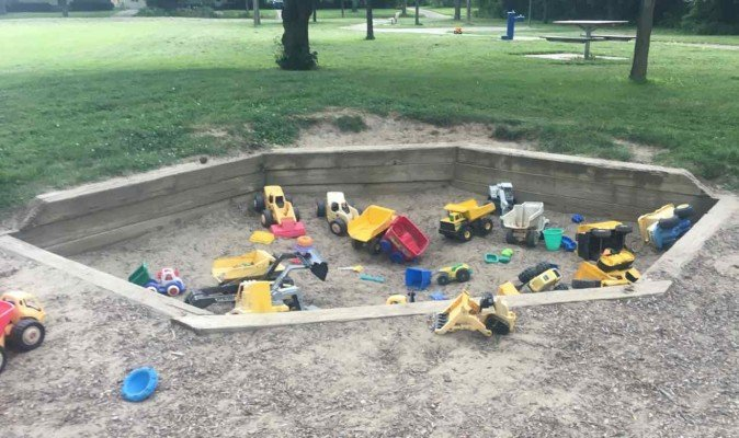 Ann Arbor's Las Vegas Park - Sandbox with Toys
