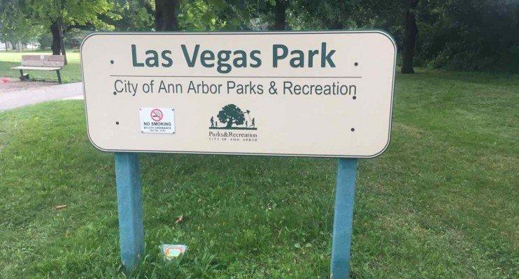 Ann Arbor's Las Vegas Park - Sign