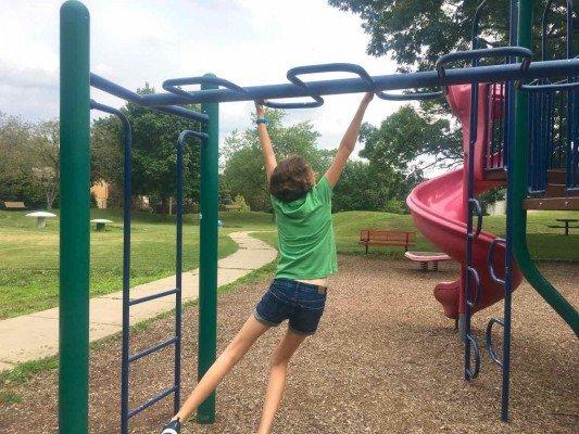 Ann Arbor's Mushroom Park - Monkey Bars