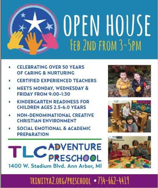 TLC Adventure Preschool - Open House February 2 - Other information included in on-page text