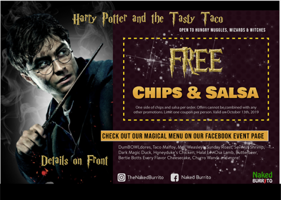 Yer a Wizard Taco Party - Coupon