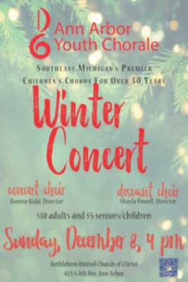 Ann Arbor Youth Chorale Winter Concert