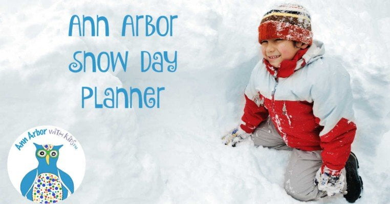 Ann Arbor Snow Day Planner - Ann Arbor with Kids - Boy playing in snow