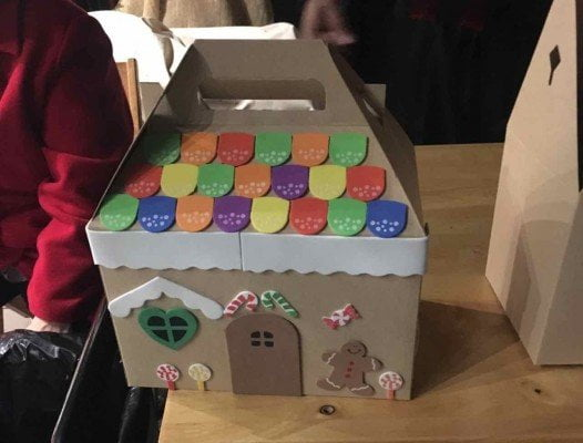 Greenfield Village Holiday Nights - Kids Craft Paper Gingerbread House