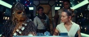Star Wars: The Rise of Skywalker - Chewy, Poe, Rey, and Finn in the Millennium Falcon