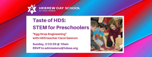 Taste of HDS_ STEM for Preschoolers