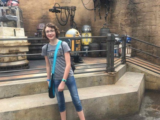 Disney's Galaxy's Edge - My daughter with a droid
