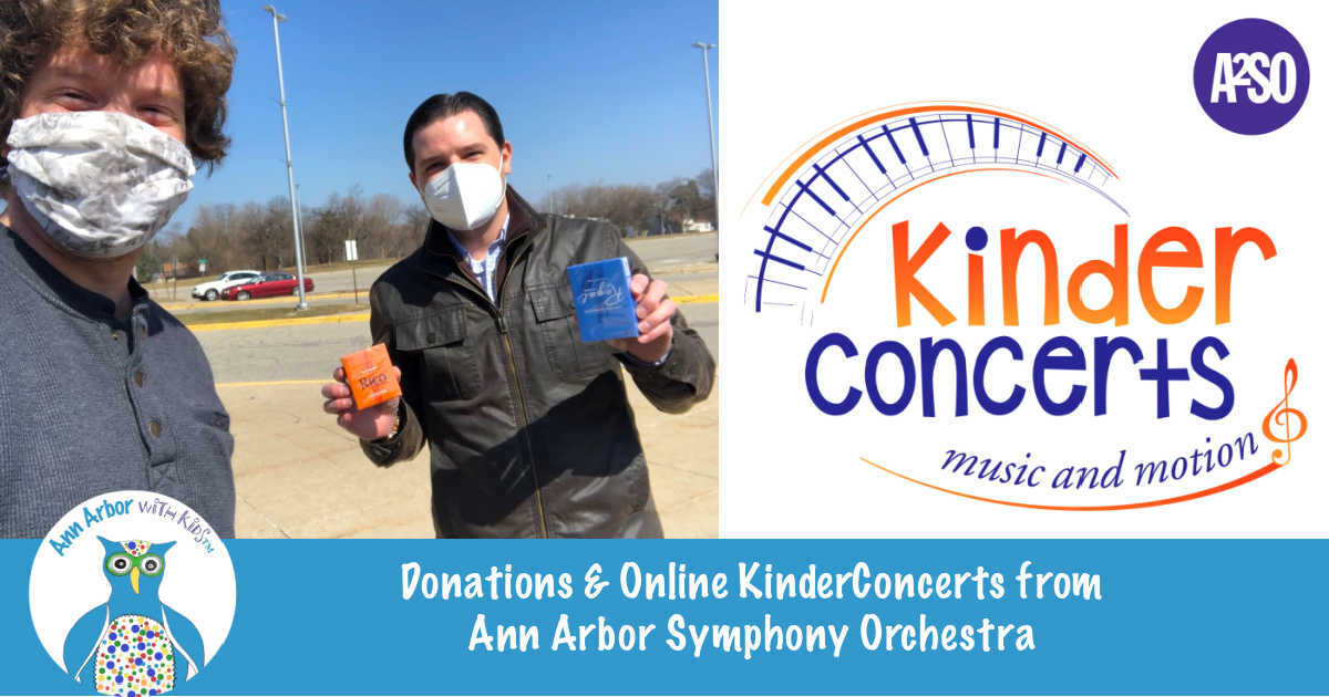 Donations & Online KinderConcerts from Ann Arbor Symphony Orchestra