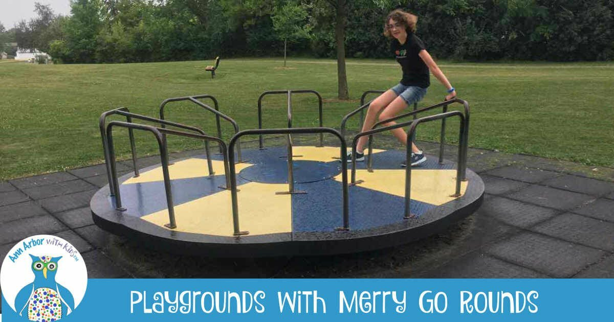 Ann Arbor Playgrounds with Merry Go Rounds