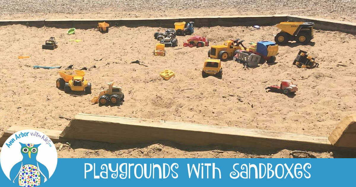 Ann Arbor Playgrounds with Sandboxes