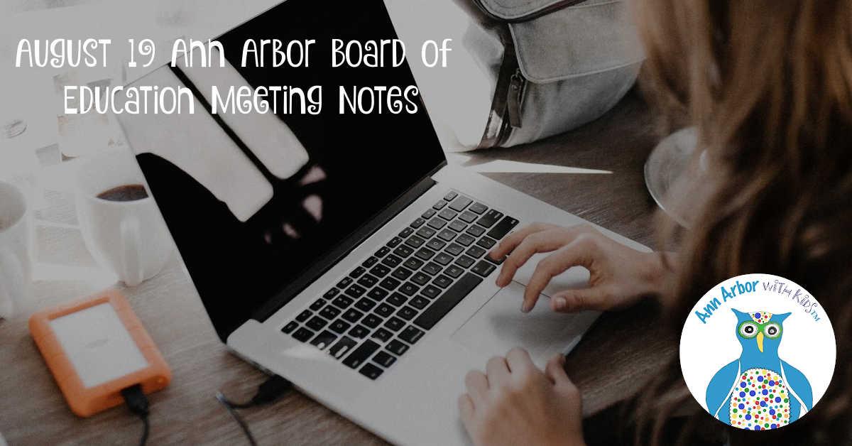August 19th Ann Arbor Board of Education Meeting