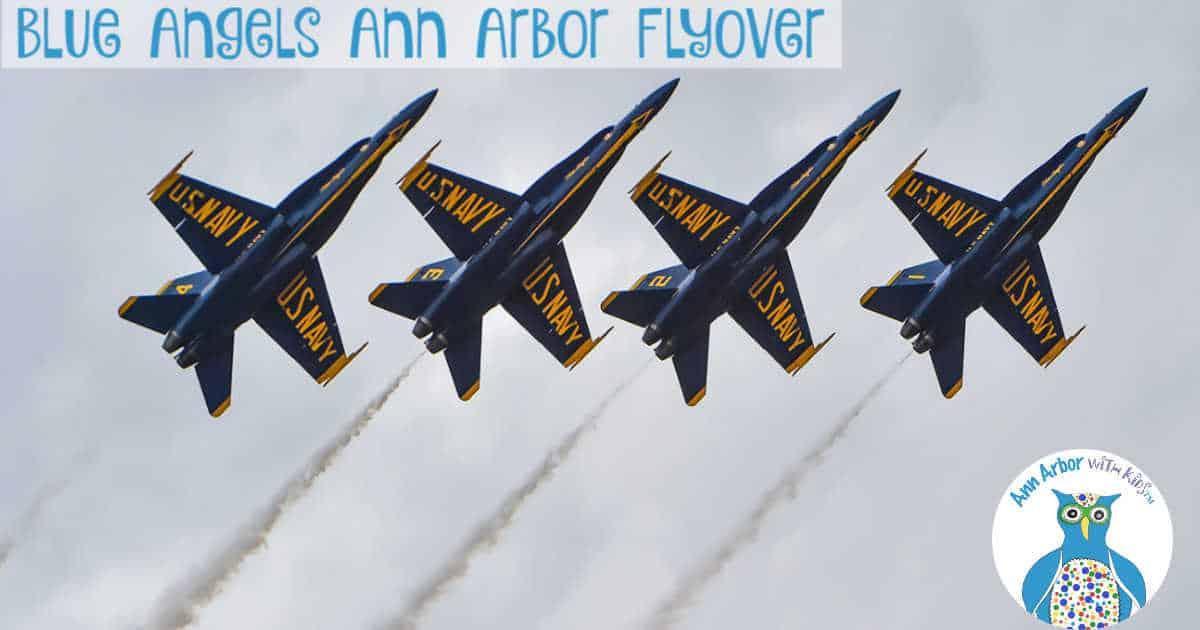 Ypsilanti & Ann Arbor Blue Angels Flyover