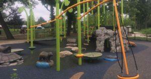 Gallup Park Centennial Playground Structure