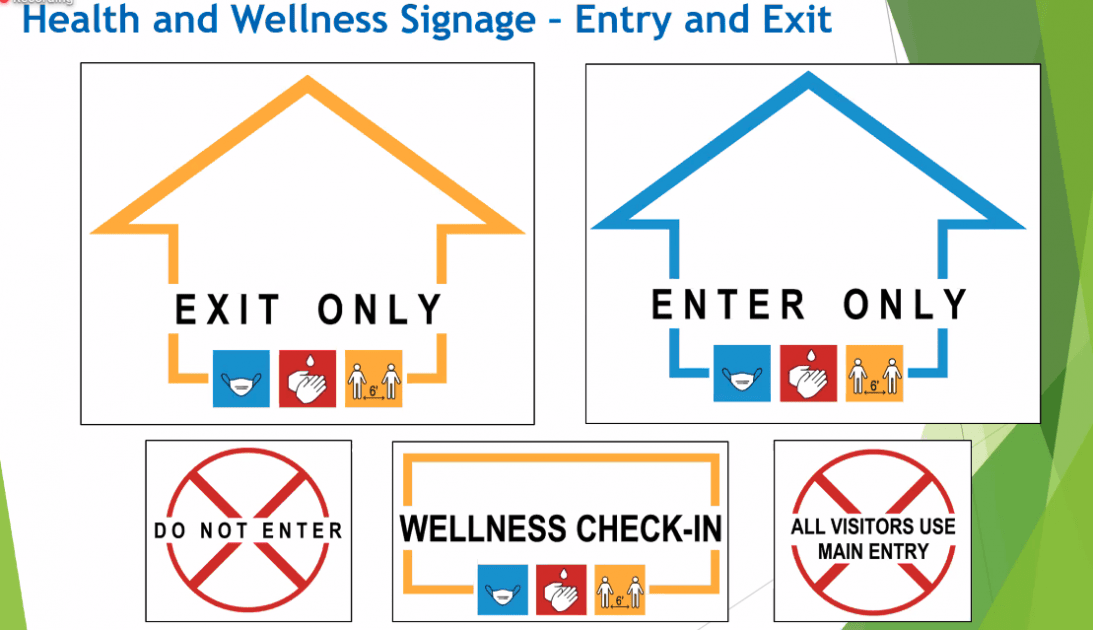 Sample Social Distance Signage for AAPS Return to School